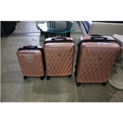 3 PIECE HEYS PINK LUGGAGE BAG COLLECTION