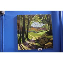 CANVAS PRINT - INTO THE MEADOW SIGNED DAVID JAMES '10, BOTTOM RIGHT