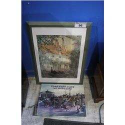 """FRAMED PRINT AND """"COACHING DAYS OF ENGLAND"""" BOOK"""