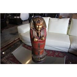 APPROX. 2.5' TALL EGYPTIAN SARCOPHAGUS STORAGE CHEST