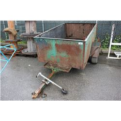 SINGLE AXLE UTILITY TRAILER *NO REGISTRATION, PARTS ONLY, NOT ROADWORTHY*