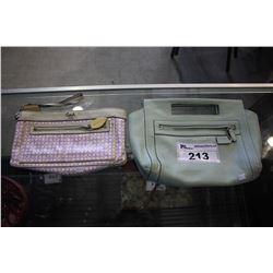 PURPLE COACH CLUTCH #J0826-13166 AND MINT GREEN DESIGNER BAG