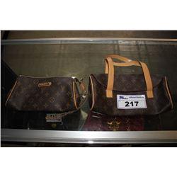 2 LOUIS VUITTON CLUTCHES #DU2089 AND #M51905