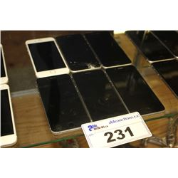 5 BLACK IPHONE 6 DEVICES (MODEL A1549) AND 1 WHITE IPHONE 6S (MODEL A1688) - CONDITION UNKNOWN / ONE
