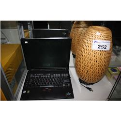 IBM THINKPAD LAPTOP AND TABLE LAMP