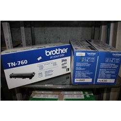 3 BROTHER TONER CARTRIDGES (TN-630/660/760)