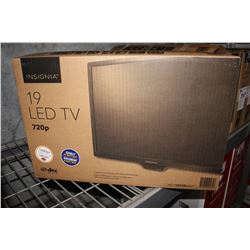 "19"" INSIGNIA LED 720P 60HZ TV (MODEL# NS-19D310NA19)"