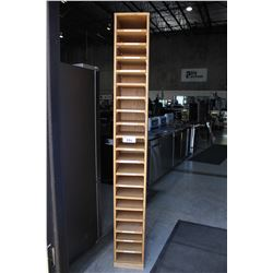 APPROX. 7' TALL OAK  MAIL/FILE ORGANIZER