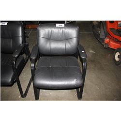 BLACK PADDED OFFICE CHAIR