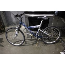 BLUE DUNLOP FS747 21-SPEED FRONT SUSPENSION MOUNTAIN BICYCLE
