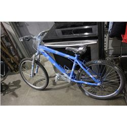 BLUE PAINTED 21-SPEED MOUNTAIN BICYCLE