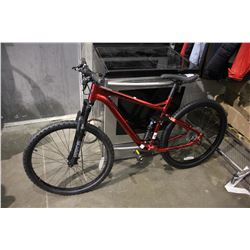 METALLIC RED HYPER VIKING TRAIL PRO 9-SPEED MOUNTAIN BICYCLE WITH BACK DISC BRAKES