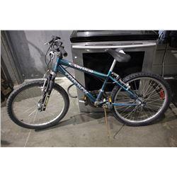 METALLIC BLUE TRIUMPH VERTICAL18 18-SPEED MOUNTAIN BICYCLE