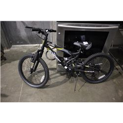 BLACK HYPER BEAR MOUNTAIN 20 6-SPEED CHILDREN'S MOUNTAIN BICYCLE