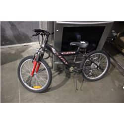BLACK CCM VOLCAN 5-SPEED CHILDREN'S MOUNTAIN BICYCLE