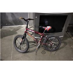 RED SUPERCYCLE STORM MT8 CHILDREN'S BMX BICYCLE