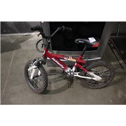 RED INFINITY ELECTRA CHILDREN'S BMX BICYCLE