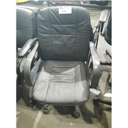 BLACK ADJUSTABLE ROLLING OFFICE CHAIR