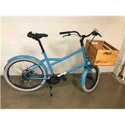 NEW RALEIGH LORRY TOURING BIKE WITH WOOD BASKET