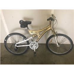 GOLD PAINTED UNKNOWN MOUNTAIN BIKE