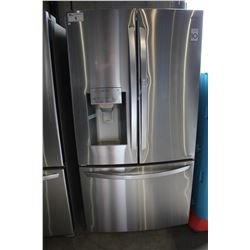 "36"" STAINLESS STEEL LG FRIDGE WITH BOTTOM FREEZER AND WATER & ICE"
