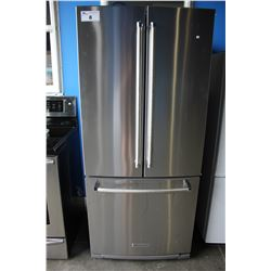 "30"" STAINLESS STEEL KITCHENAID FRIDGE WITH BOTTOM FREEZER"