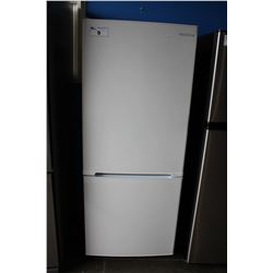 "24"" WHITE INSIGNIA APARTMENT SIZED FRIDGE WITH BOTTOM FREEZER"