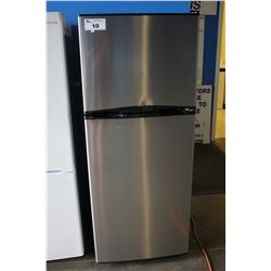 "24"" STAINLESS STEEL INSIGNIA APARTMENT SIZED FRIDGE WITH TOP FREEZER"