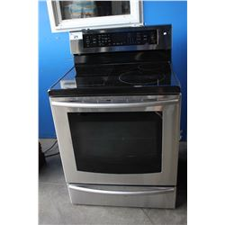 "30"" STAINLESS STEEL SAMSUNG ELECTRIC STOVE/OVEN"