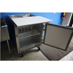 "27"" STAINLESS STEEL BEVERAGE-AIR COMMERCIAL REFRIGERATED PREP TABLE"