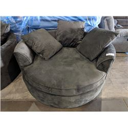 LARGE GREY CUDDLE CHAIR WITH PILLOWS