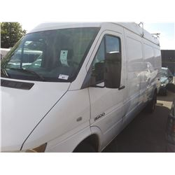 2004 DODGE SPRINTER HIGH 3DR VAN, WHITE, VIN # WD2BD543545682881