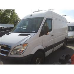 2007 DODGE SPRINTER, HIGH VAN, WHITE, VIN # WD0BE745275221516