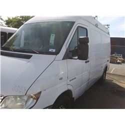 2005 DODGE SPRINTER, HIGH VAN, WHITE, VIN # WD0BD644X55799767