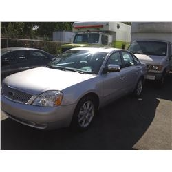 2005 FORD 500, 4DR SEDAN, GREY, VIN # 1FAFP281X5G185001
