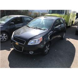 2009 CHEVROLET AVEO, 4DR HATCHBACK, BLACK, VIN # 3G1TV65E39L128991