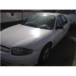 2005 CHEVROLET CAVALIER, 4DR SEDAN, WHITE, VIN # 1G1JC52F157194491
