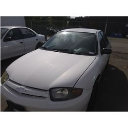 2003 CHEVROLET CAVALIER, 4DR SEDAN, WHITE, VIN # 1G1JC52F937257897