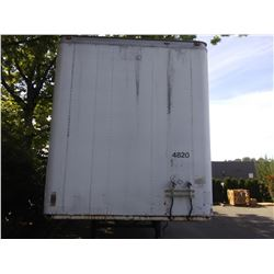 1984 TRAILMOBILE 53' TRAILER, WHITE, VIN # 2TCF452B5EA284302