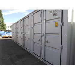 UNUSED 40FT HIGH CUBE FOUR MULTI DOOR CONTAINER, 4 SIDE OPEN DOOR, ONE END DOOR LOCK BOX, SIDE