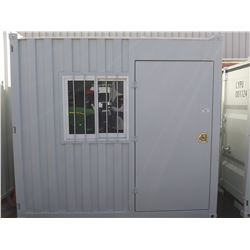 UNUSED 2019 9' CONTAINER WITH 1 DOOR & 1WINDOW