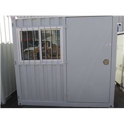 UNUSED 2019 8' CONTAINER WITH 1 DOOR & 1WINDOW