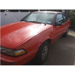 1994 PONTIAC SUNBIRD LE, 2DR COUPE, RED, VIN # 3G2JB11HXRS823120