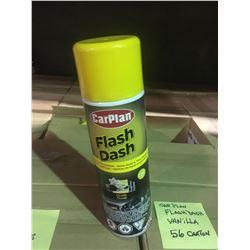 2 BOXES 6 X 500ML FLASH DASH VANILLA AUTOMOTIVE DASH & TRIM CLEANER