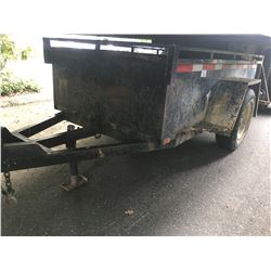 2000 TRAILERMAN TRAILER, BLACK, 8'X4' BOX, 148  OVERALL, VIN#2T9BFSAA4YT131036, NO ICBC