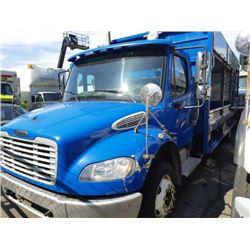 2008 FREIGHTLINER GARBAGE TRUCK, BLUE, DIESEL, AUTOMATIC, VIN#1FVACXDJ48HZ06712, 122,602KMS, DRIVER
