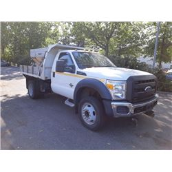 2011 FORD F550 SUPERDUTY, FLATDECK, WHITE, DIESEL, AUTOMATIC, VIN#1FDUF5HT7BEA53291, 59,046KMS,