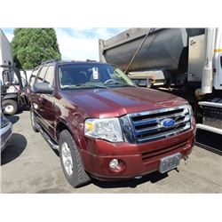 2011 FORD EXPEDITION XLT, RED, 4DRSW, GAS, AUTOMATIC, VIN#1FMJU1G55BEF19191, 58,041KMS,