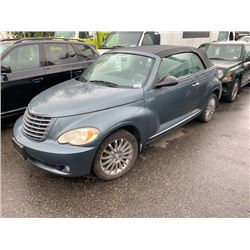2006 CHRYSLER PT CRUISER, 2DRCON, GREEN, GAS, AUTOMATIC, VIN#3C3HY75S66T214733, 132,556KMS,