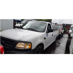 2003 FORD F150 XL, WHITE, NATURAL GAS, AUTOMATIC, VIN#2FDPF17M33CA37029, 143,057KMS, RD, LARGE